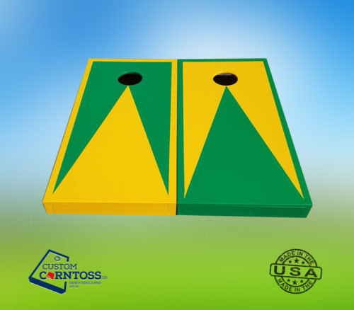 2 Color Triangle Corntoss Set Bags Backyard Game