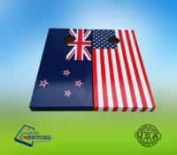 American Flag Hand Painted New Zealand Cornhole Corntoss Bags Quality Weatherproof Gift Men Convention