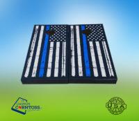 Blue Line usa Flag cornhole Wrap
