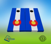 Colorado Flag cornhole set