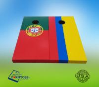 Columbia flag Portugal Flag cornhole sets