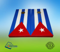 Cuba Flag Bright Corntoss Cornhole Custom Gift Bags Unique Men Weatherproof Quality Handmade Painted Heavy Duty