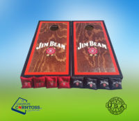 Jim Beam Whiskey Cornhole Corntoss Bags Wrap Black Barrel Caskmates Quality Weatherproof Gift Men