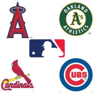 MLB Cornhole Decals for Cornhole Boards