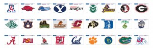 NCAA Football Decals 01