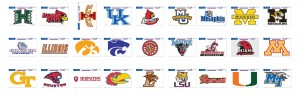 NCAA Football Decals 02