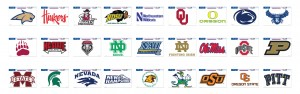 NCAA Football Decals 03