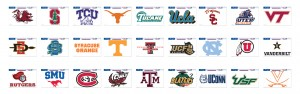 NCAA Football Decals 04