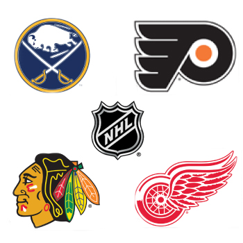 NHL Decal List for Cornhole Boards