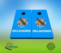 Oklahoma State Flag Corntoss Cornhole Custom Gift Bags Unique Men Weatherproof Quality Handmade Painted