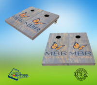 Solid Gray Stain Cornhole Corntoss Personalized Corporate Event Game Teambuilding Golf Course