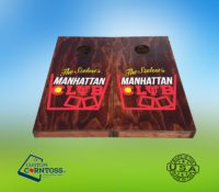 The Manhattan Club Corntoss Bags Wrap Black Barrel Caskmates Quality Weatherproof Gift Men Convention Red Oak Stained