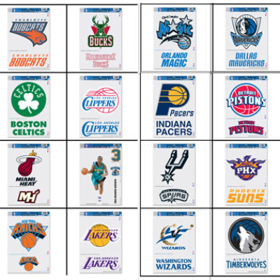 NBA Cornhole Decals for Cornhole Boards
