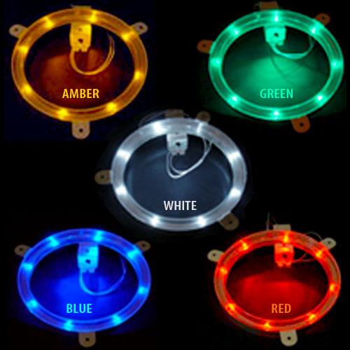 multi-colored cornhole lights