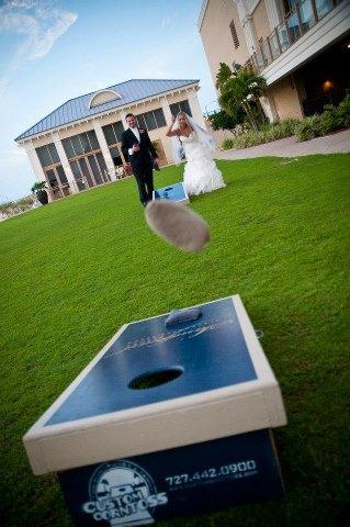 Wedding Cornhole Throw