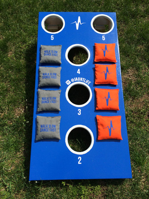 Customized 5 Hole Cornhole Game Set