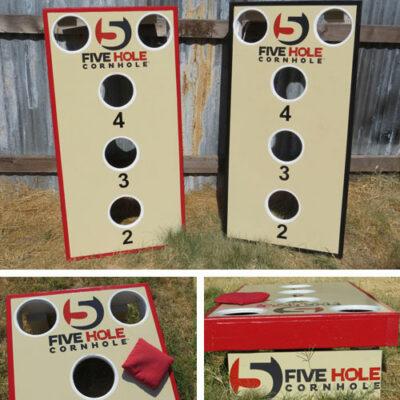 Classic 5-Hole Cornhole Set