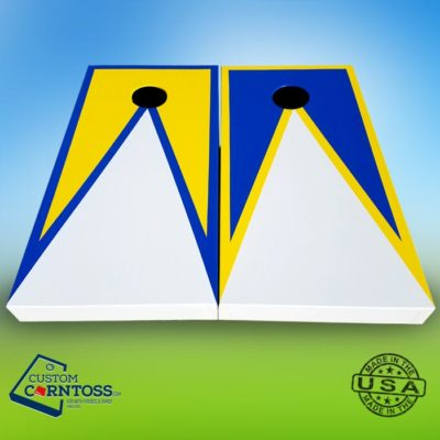 Cornhole Board Three Color Triangle with Trim