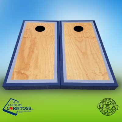 Cornhole Board Three Color Trim Design