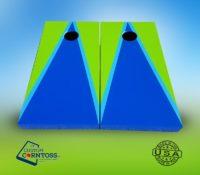 Cornhole Board Two Color Triangle with Trim