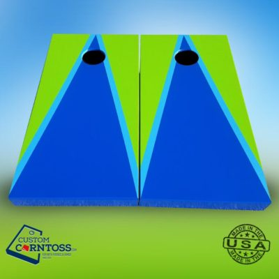 Cornhole Board Two Color Triangle with Trim