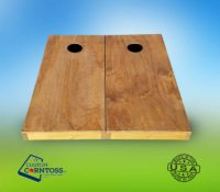 Solid Golden Oak Stained Cornhole Board