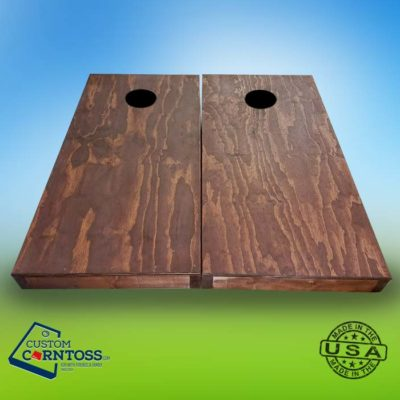 Solid Red Oak Stained Cornhole Board