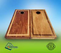Two Color Stained Cornhole Set
